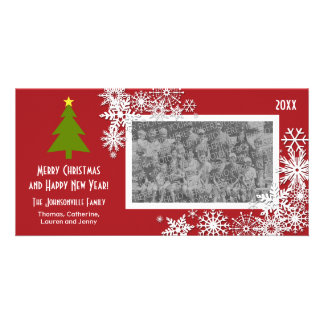 Christmas Tree with Snowflakes Picture Card