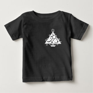 Christmas Tree with Star Black and White Shirt