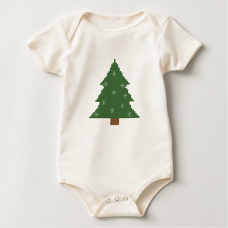 Christmas tree with stars baby bodysuits