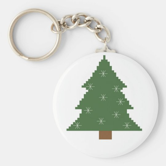Christmas tree with stars key ring