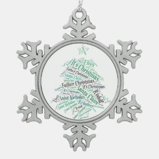 Christmas Tree Word Cloud Decoration