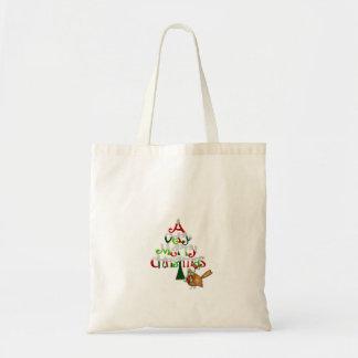 Christmas Tree Words Budget Tote Bag