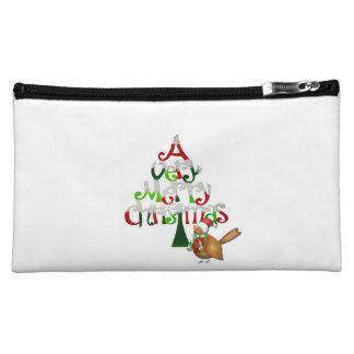 Christmas Tree Words Makeup Bags