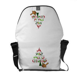 Christmas Tree Words Messenger Bag