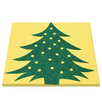 christmas tree yellow canvas prints