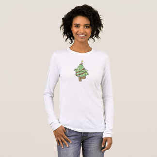 Christmas Tree - Yoga Tree Pose Long Sleeve T-Shirt