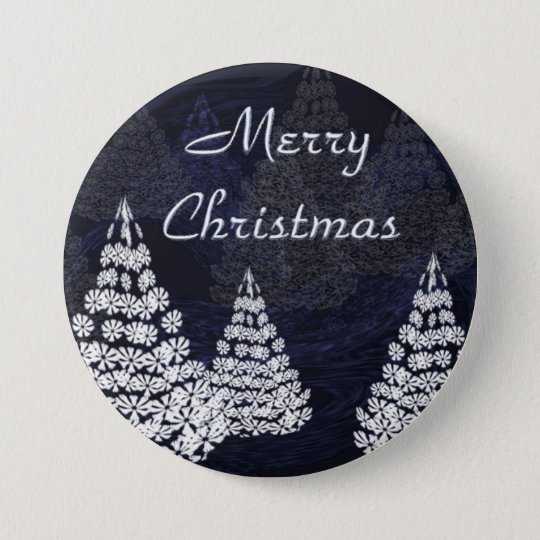 Christmas trees 7.5 cm round badge