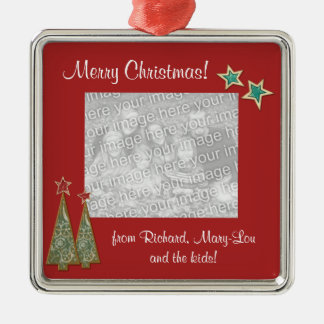 Christmas Trees and Stars-Family Photo Christmas Ornament