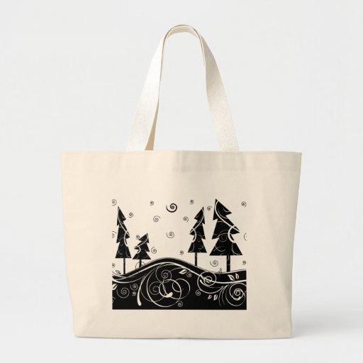 Christmas Trees Tote Bags