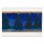 christmas trees-blue&gold painting