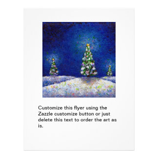 Christmas trees fun colorful original art painting flyers