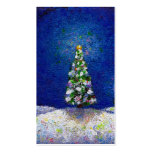 Christmas trees fun colourful original art pack of standard business cards