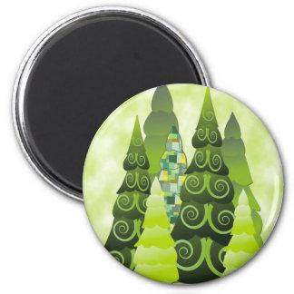 Christmas Trees Fridge Magnet