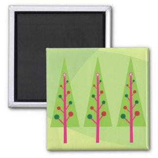 Christmas Trees Fridge Magnets