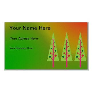 Christmas Trees Pack Of Standard Business Cards