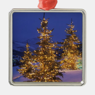 Christmas trees, Park City, Wastch Mountains, 2 Christmas Ornament