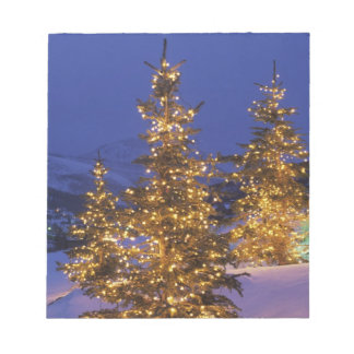 Christmas trees, Park City, Wastch Mountains, 2 Notepad
