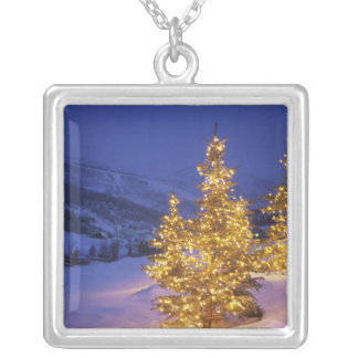 Christmas trees, Park City, Wastch Mountains, Silver Plated Necklace
