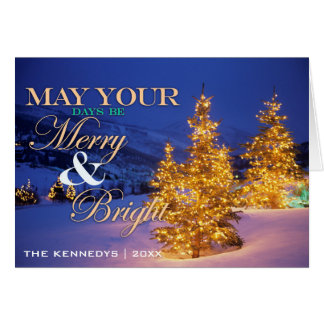 Christmas trees, Park City, Wastch Mountains, Utah Card
