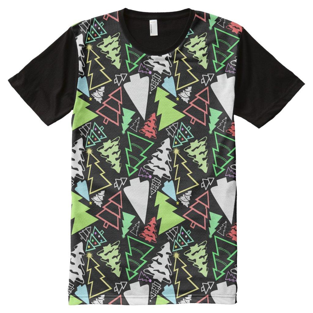 Christmas Trees Pattern T-Shirt