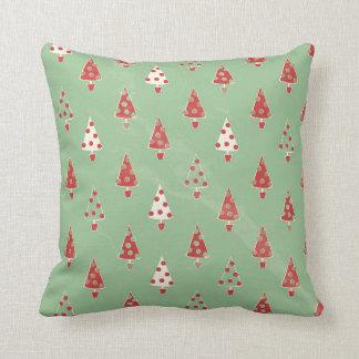Christmas Trees Pattern Cushion