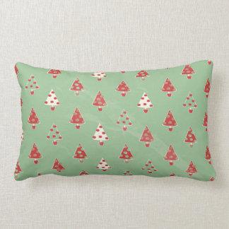 Christmas Trees Pattern Lumbar Cushion