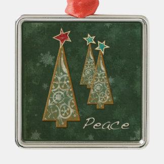 Christmas Trees-Peace Christmas Ornament