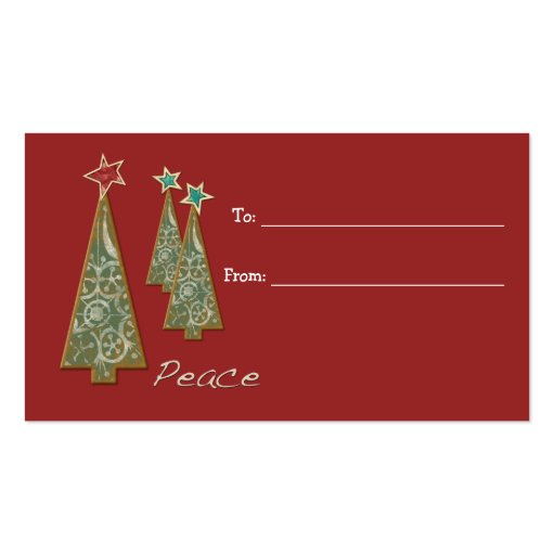 Christmas Trees-Peace/Gift Tag Business Card