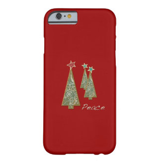 Christmas Trees-Peace/Red Barely There iPhone 6 Case
