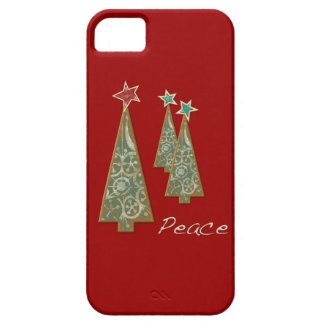 Christmas Trees-Peace/Red iPhone 5 Cases