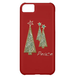 Christmas Trees-Peace/Red iPhone 5C Case
