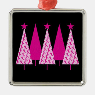 Christmas Trees - Pink Ribbon Christmas Tree Ornament