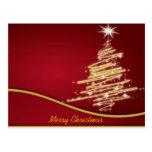 christmas trees post card