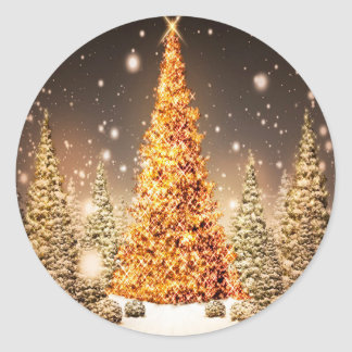 Christmas Trees Round Sticker
