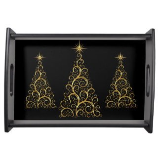 Christmas Trees Serving Tray