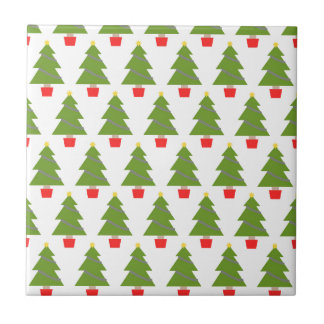 Christmas Trees Small Square Tile