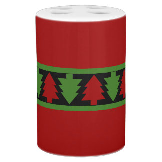Christmas Trees Too Soap Dispenser And Toothbrush Holder