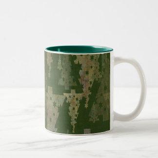 Christmas Trees Two-Tone Coffee Mug