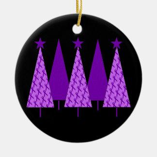 Christmas Trees - Violet Ribbon Christmas Ornament