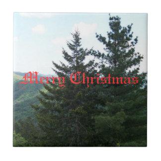 Christmas Tribit Ceramic Tile