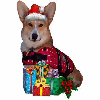 """Christmas Tricolor Corgi """"Cut out"""" Photo Sculpture Decoration"""