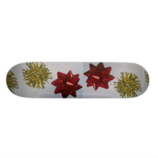 Christmas trim skateboard deck