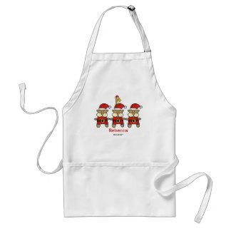 Christmas Trio Plus One Adult Apron