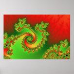 Christmas Triple Twirl Poster