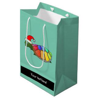 Christmas turtle cartoon medium gift bag