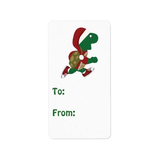Christmas Turtle Runner Gift tag