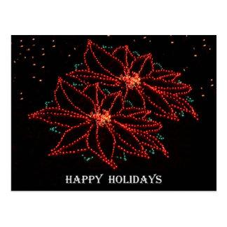 Christmas Two Poinsettias 2016 Postcard