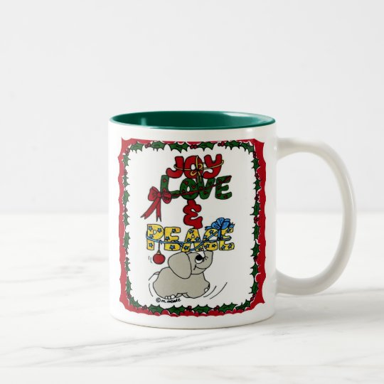 CHRISTMAS Two-Tone COFFEE MUG