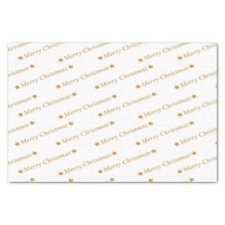 Christmas Typography Merry Christmas Pattern Tissue Paper