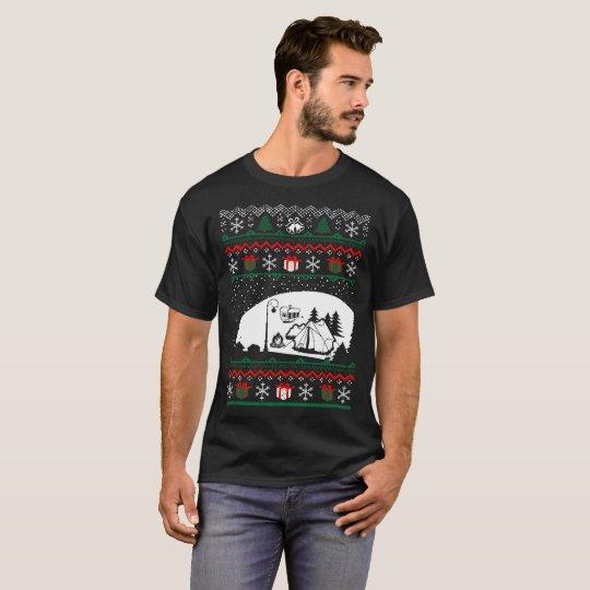 Christmas Ugly Sweater Camping Tshirt